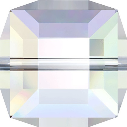 On Hand: Swarovski 5601 12mm Cube Beads Crystal AB (2 pieces)