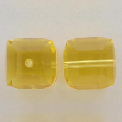 Swarovski 5601 4mm Cube Beads Light Topaz