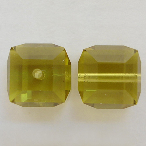 Swarovski 5601 4mm Cube Beads Lime