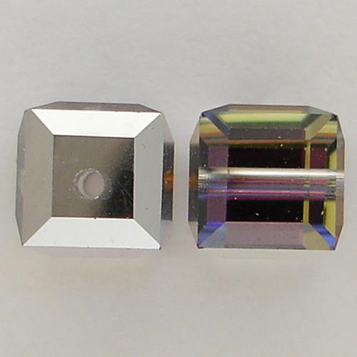 Swarovski 5601 6mm Cube Beads Crystal Meridian Blue
