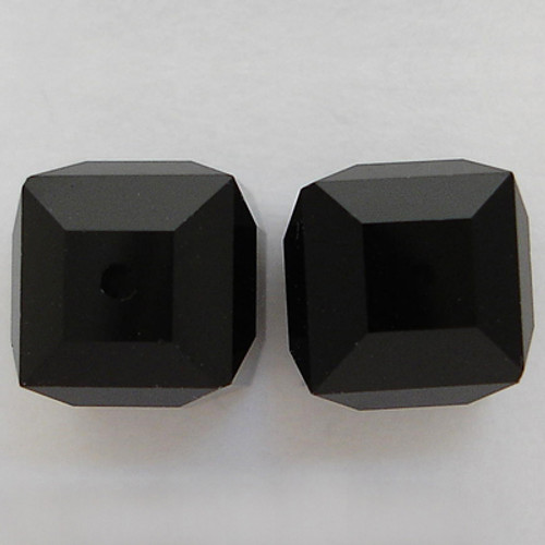 Swarovski 5601 6mm Cube Beads Jet