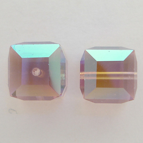 Swarovski 5601 6mm Cube Beads Light Amethyst AB