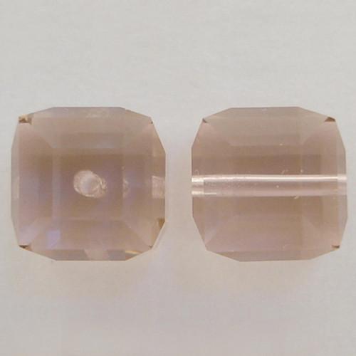 Swarovski 5601 6mm Cube Beads Vintage Rose