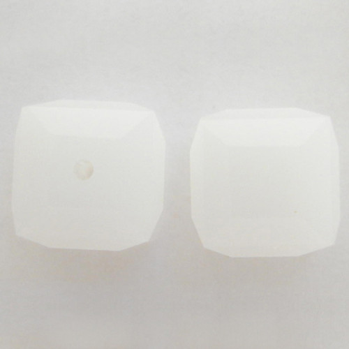 Swarovski 5601 6mm Cube Beads White Alabaster