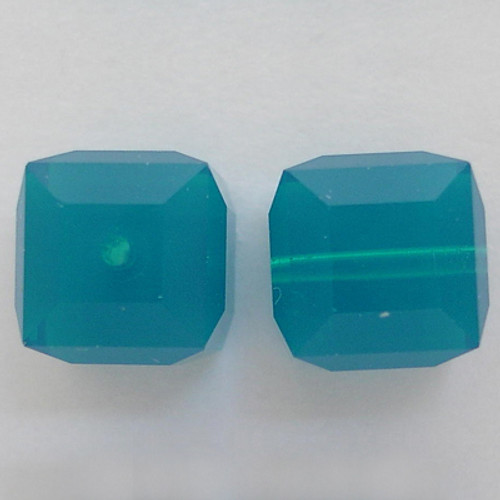 Swarovski 5601 8mm Cube Beads Caribbean Blue Opal