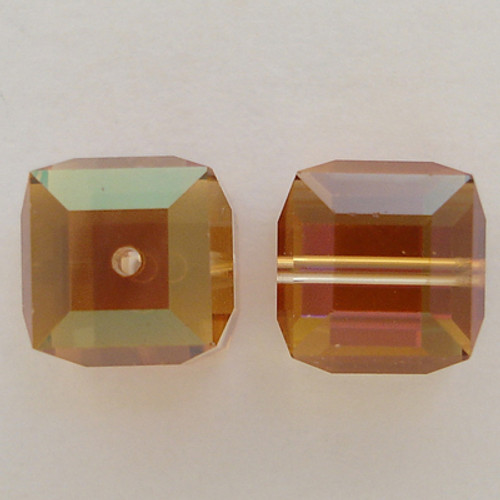Swarovski 5601 8mm Cube Beads Crystal Copper
