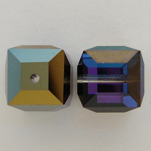Swarovski 5601 8mm Cube Beads Crystal Heliotrope