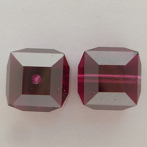 Swarovski 5601 8mm Cube Beads Fuchsia Satin