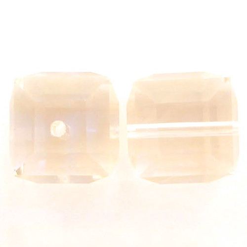 Swarovski 5601 8mm Cube Beads Light Peach