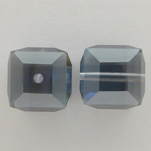 Swarovski 5601 8mm Cube Beads Light Sapphire Satin