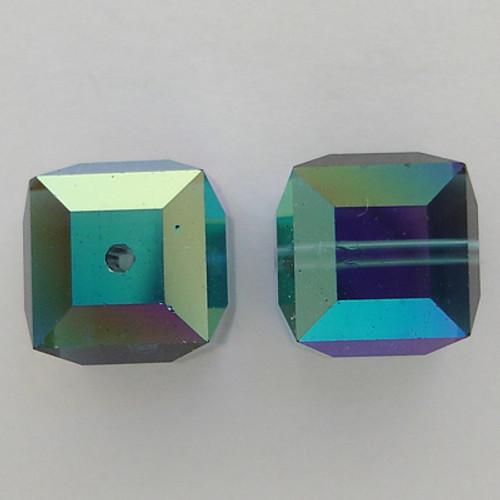 Swarovski 5601 8mm Cube Beads Montana AB