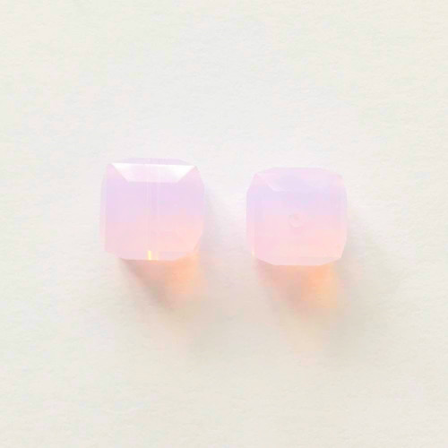 Swarovski 5601 8mm Cube Beads Rose Water Opal