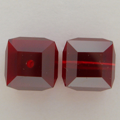Swarovski 5601 8mm Cube Beads Siam Satin