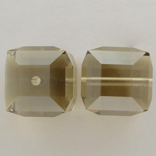 Swarovski 5601 8mm Cube Beads Topaz Satin