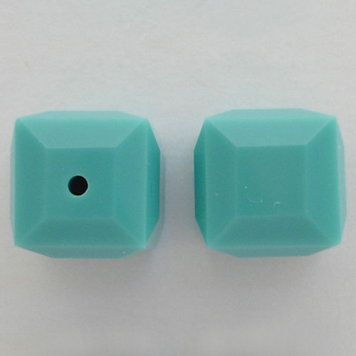 Swarovski 5601 8mm Cube Beads Turquoise