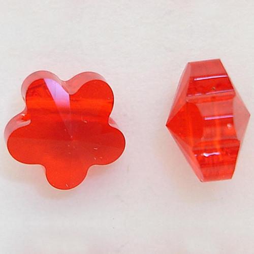 Swarovski 5744 8mm Flower Beads Light Siam
