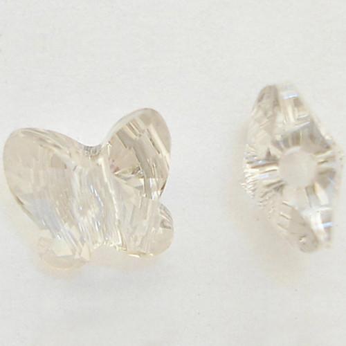 Swarovski 5754 6mm Butterfly Beads Crystal Silver Shade