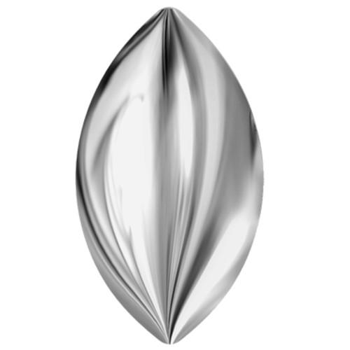 2208 Navette Cabochons Flatbacks 8mm Crystal Light Chrome