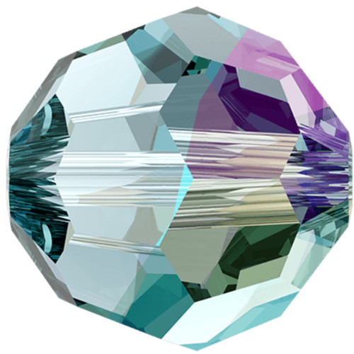 5000 Round Beads 6mm Aquamrine Shimmer