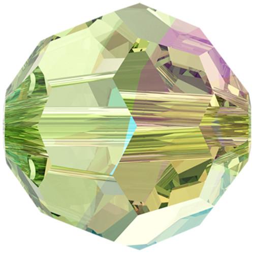 5000 Round Beads 6mm Peridot Shimmer