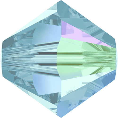5301 & 5328 Xilion Bicone Beads 4mm Aquamrine Shimmer