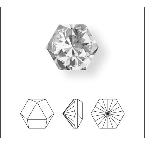 be0964cb0dc Swarovski 4699 20mm Kaleidoscope Hexagon Fancy Stones Aquamarine (12 pieces)