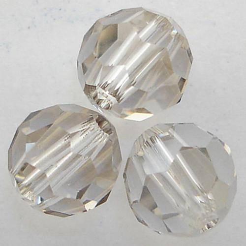Swarovski 5000 12mm Round Beads Crystal Silver Shade  (72 pieces)