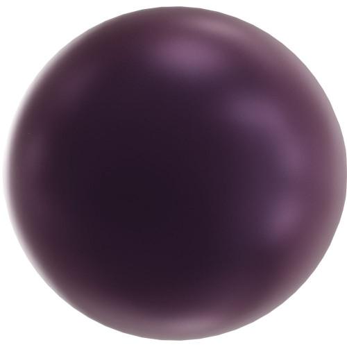 Swarovski 5818 10mm Half-Drilled Pearls Elderberry
