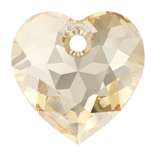 Swarovski 6432 10.5mm Heart Cut Pendants Crystal Golden Shadow