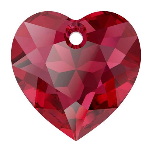 Swarovski 6432 10.5mm Heart Cut Pendants Scarlet