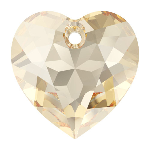 Swarovski 6432 8mm Heart Cut Pendants Crystal Golden Shadow
