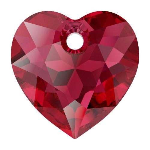 Swarovski 6432 8mm Heart Cut Pendants Scarlet
