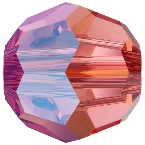 Swarovski 5000 4mm Round Beads Rose Peach Shimmer