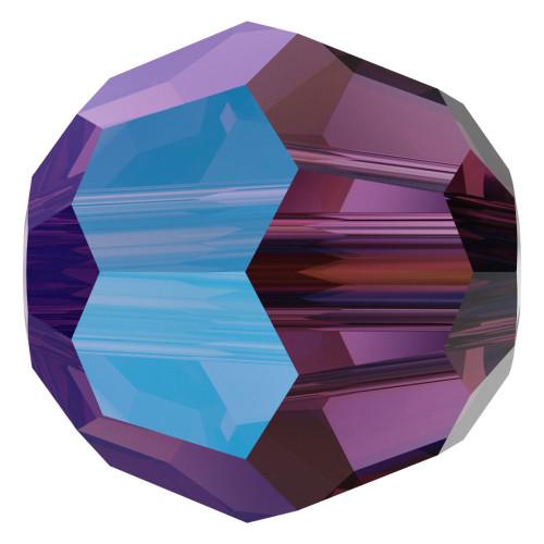 Swarovski 5000 6mm Round Beads Amethyst Shimmer