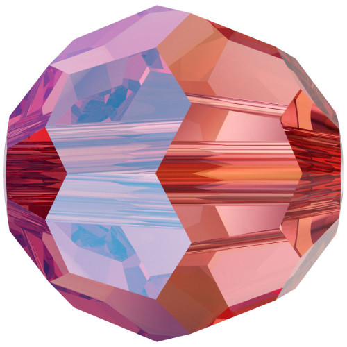 Swarovski 5000 6mm Round Beads Rose Peach Shimmer