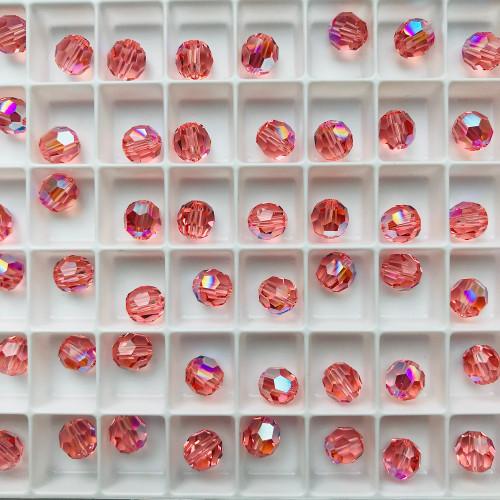Swarovski 5000 6mm Round Beads Rose Peach Shimmer (36 pieces)