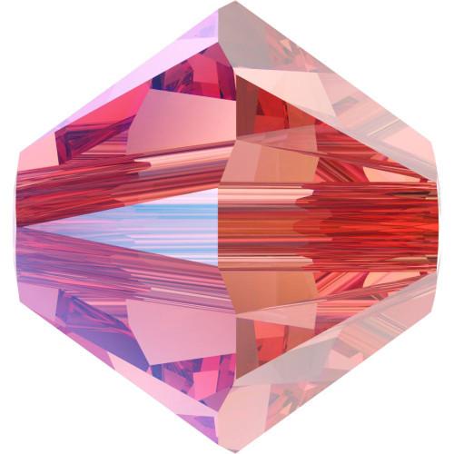 Swarovski 5328 4mm Xilion Bicone Beads Rose Peach Shimmer