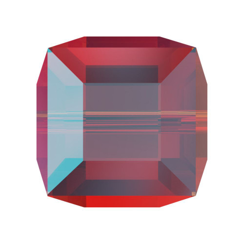 Swarovski 5601 4mm Cube Beads Light Siam Shimmer