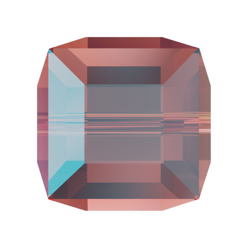 Swarovski 5601 4mm Cube Beads Rose Peach Shimmer