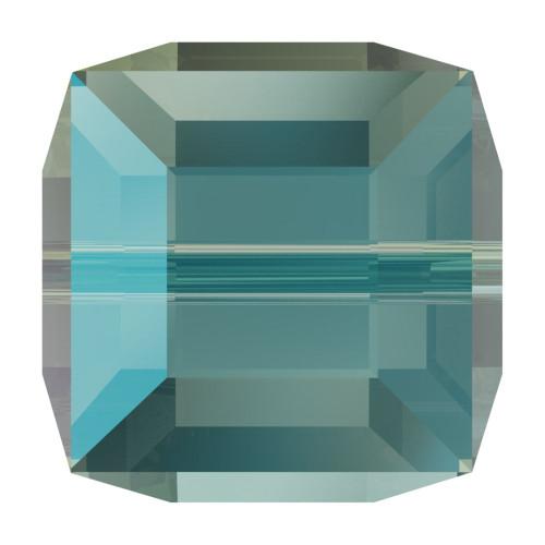 Swarovski 5601 8mm Cube Beads Erinite Shimmer