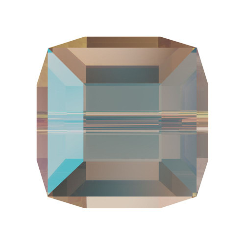 Swarovski 5601 8mm Cube Beads Light Colorado Topaz Shimmer