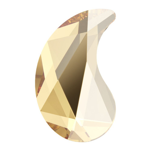 Swarovski 2364 6mm Paisley X Flat Backs Crystal Golden Shadow