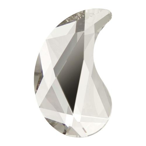 Swarovski 2364 6mm Paisley X Flat Backs Crystal Silver Shade Hot Fix (288 pieces)