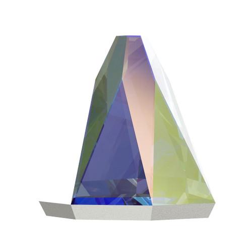 Swarovski 2019 4mm Round Spike Flatbacks Crystal AB Hot Fix