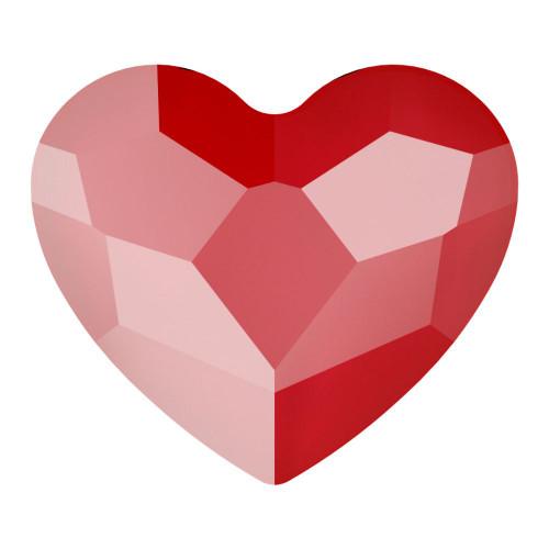 Swarovski 2808 3.6mm Heart Flatback Crystal Royal Red Delite