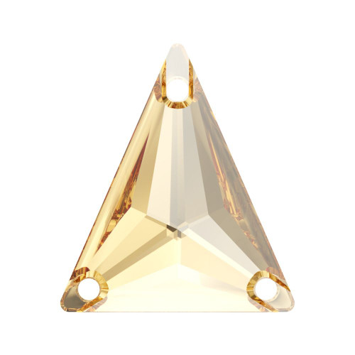 Swarovski 3271 18mm Slim Triangle Sew On Stones Crystal Golden Shadow