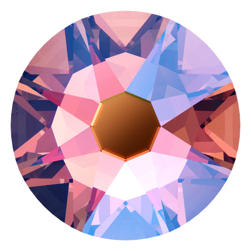 Swarovski 2058 9ss Xilion Flatback Rose Peach Shimmer