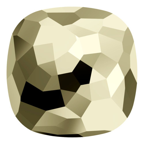 Swarovski 4483 14mm Fantasy Cushion Cut Fancy Stones Crystal Metallic Light Gold (24 pieces)