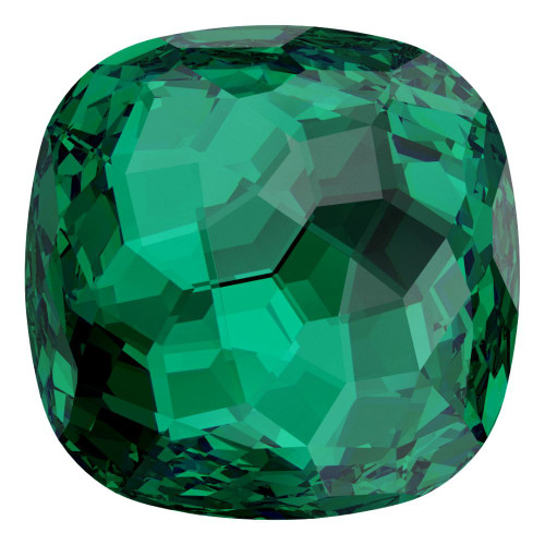 Swarovski 4483 14mm Fantasy Cushion Cut Fancy Stones Emerald