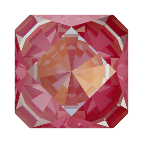 Swarovski 4499 10mm Kaleidoscope Square Fancy Stones  Crystal Lotus Pink Delite